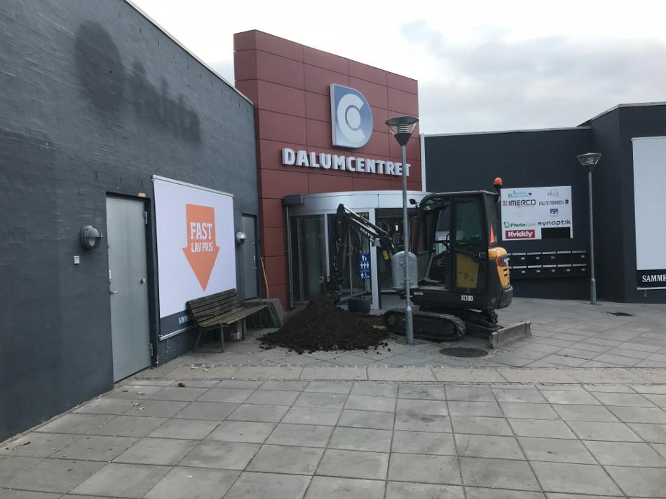 Ny tagbrønd ved Dalum centret
