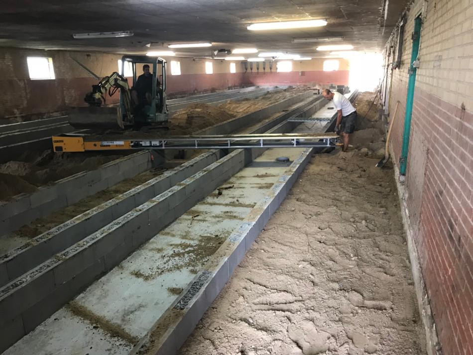 Ombygning til 500 m2 svinestald