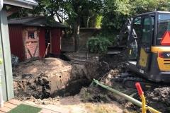 Nedgravning af samletank i kolonihave