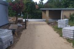 Ny flisebelægning ved villa