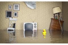 Oversvømmelse i huset